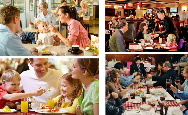 Family Restaurants Examples of Real Imagery